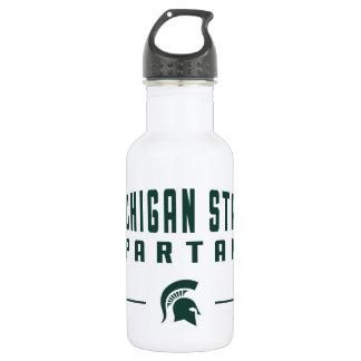 Bouteille D'eau En Acier Inoxydable Université de l'Etat d'État du Michigan du fanion