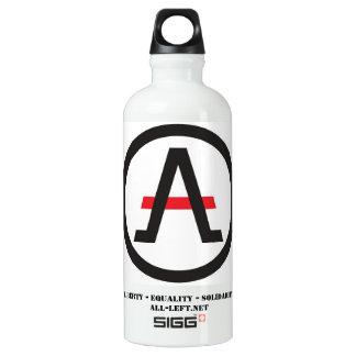 Bouteille D'eau En Aluminium Alliance du libertaire à gauche de l'hydratation