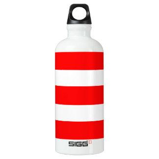 Bouteille D'eau En Aluminium Bandes - rouge et blanc