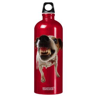 Bouteille D'eau En Aluminium Chien agressif - chien fâché - chien drôle