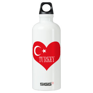 Bouteille D'eau En Aluminium Drapeau de la Turquie