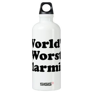 Bouteille D'eau En Aluminium Le plus mauvais alarmiste du monde