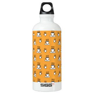 Bouteille D'eau En Aluminium Motif de tasse de Coffe en jaune de moutarde