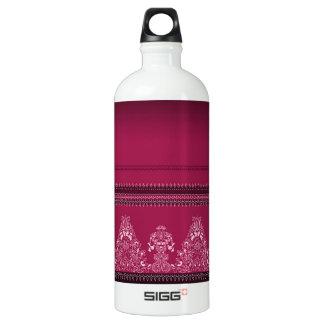 Bouteille D'eau En Aluminium Motif floral traditionnel rose de Paisley