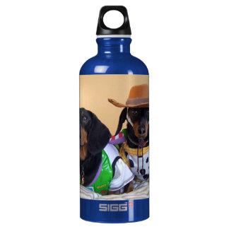 Bouteille D'eau En Aluminium Teckel drôle - cowboy de chien