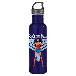 Bouteille D'eau Femme de merveille - combat pour la paix