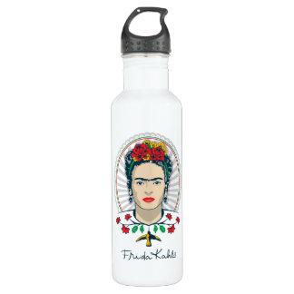 Bouteille D'eau Floral vintage de Frida Kahlo |