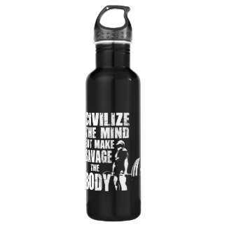 Bouteille D'eau Gymnase et motivation de forme physique - faites à
