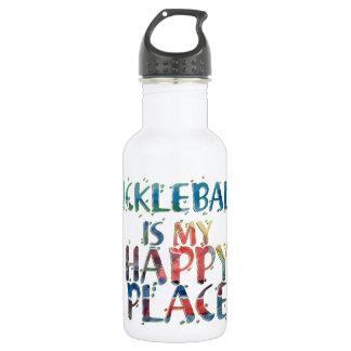 Bouteille d'eau heureuse d'endroit de Pickleball