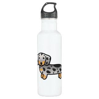 Bouteille D'eau Le noir et le Tan tachettent le chien lisse de