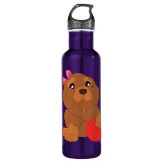 bouteille d'eau modelée par chien