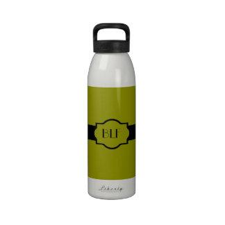 bouteille d'eau, monogramme 56