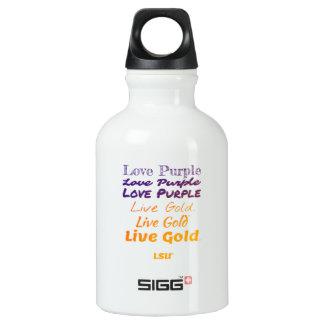 Bouteille d'eau vivante de l'or LSU de pourpre