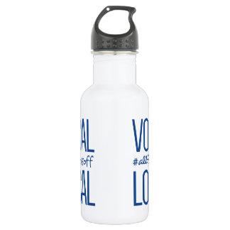 Bouteille d'eau vocale et locale en métal