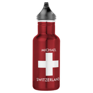 Bouteille D'eau Voyage rouge de drapeau suisse de la Suisse