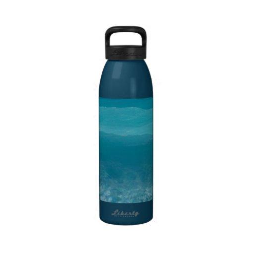 Bouteille eau-eau bleue