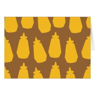 Bouteilles de moutarde carte de vœux