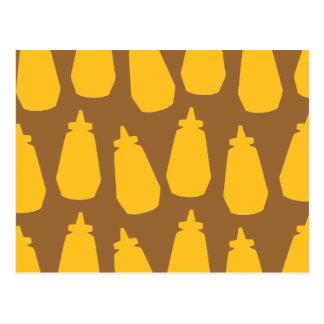 Bouteilles de moutarde carte postale