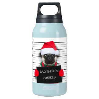 Bouteilles Isotherme Carlin de Noël - chien de photo - carlin de père