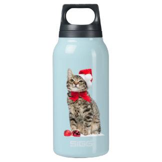 Bouteilles Isotherme Chat de Noël - chat du père noël - chaton mignon