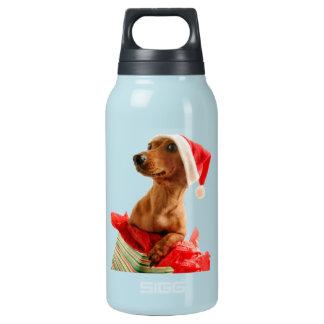 Bouteilles Isotherme Le teckel père Noël - le chien de père Noël -