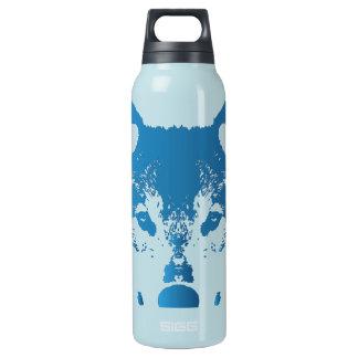 Bouteilles Isotherme Loup de bleu glacier d'illustration