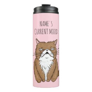 Bouteilles Isothermes Culbuteur drôle de chat de Meh d'humeur actuelle