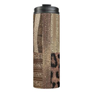 Bouteilles Isothermes Étincelle moderne d'or chic de jungle de safari de