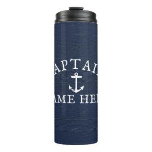 Bouteilles Isothermes Nom du capitaine de bateau Ancre marine Bleu de ma