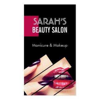 Boutique à la mode de salon de beauté de lèvres de carte de visite standard