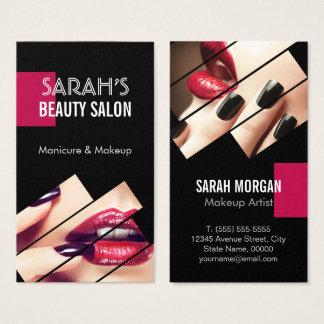 Boutique à la mode de salon de beauté de lèvres de cartes de visite
