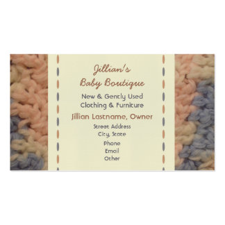 Boutique de bébé - couverture de bébé de crochet carte de visite standard