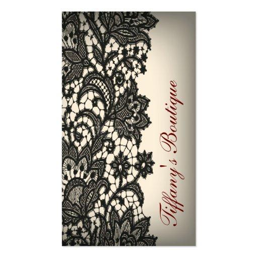 boutique noire vintage élégante de mode de Paris Modèles De Cartes De Visite