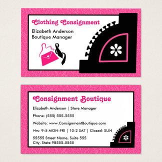 Boutique rose Girly d'expédition d'habillement de Cartes De Visite