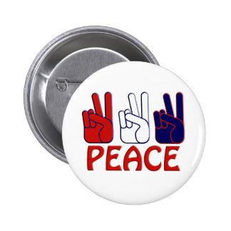 Bouton 4 juillet blanc et bleu rouge de paix badges