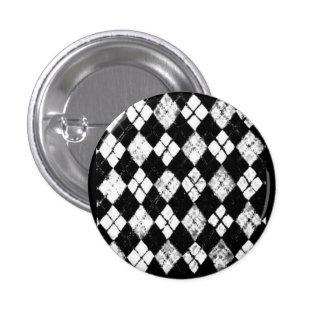 bouton à motifs de losanges grunge badge rond 2,50 cm