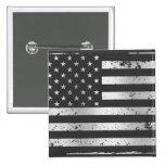 Bouton affligé du drapeau américain II Badges