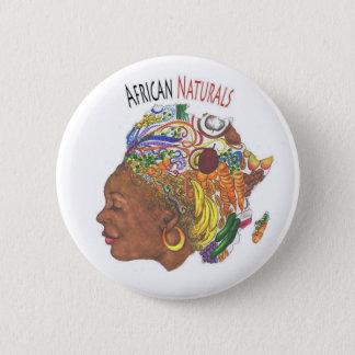 Bouton africain de magasin de produits naturels badges