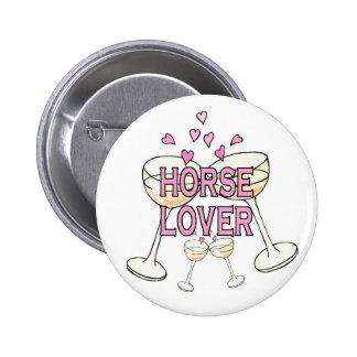 Bouton : Amant de cheval Badge Rond 5 Cm