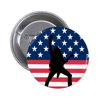 Bouton américain en métal badge rond 5 cm