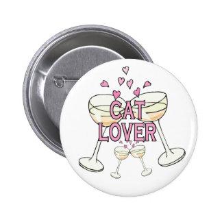 Bouton : Amoureux des chats Badge Rond 5 Cm