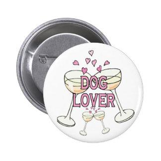 Bouton : Amoureux des chiens Badge Rond 5 Cm