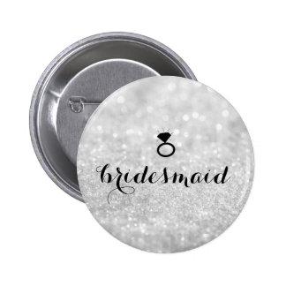 Bouton - argent de Bling d'anneau de scintillement Pin's