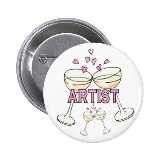 Bouton : Artiste Badge Avec Épingle