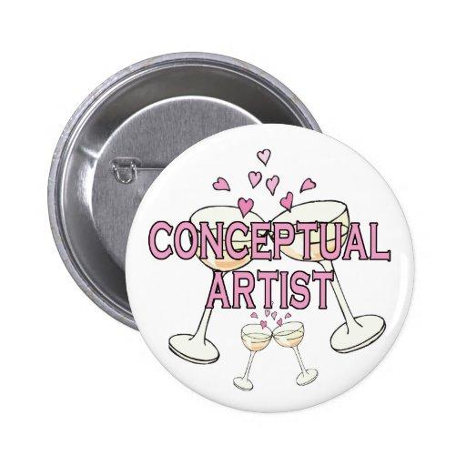 Bouton : Artiste conceptuel Pin's
