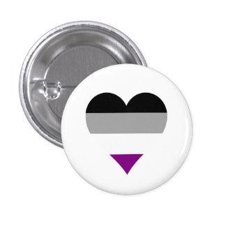 Bouton asexuel de coeurs de fierté badges