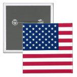 Bouton avec le drapeau des Etats-Unis Badges Avec Agrafe