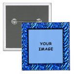 Bouton bleu coloré de cadre de photo pin's