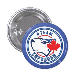 Bouton bleu de Capybara d'équipe (petit) Badges