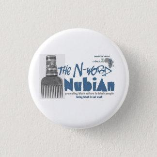 Bouton bleu de Nubian de N-mot Pin's